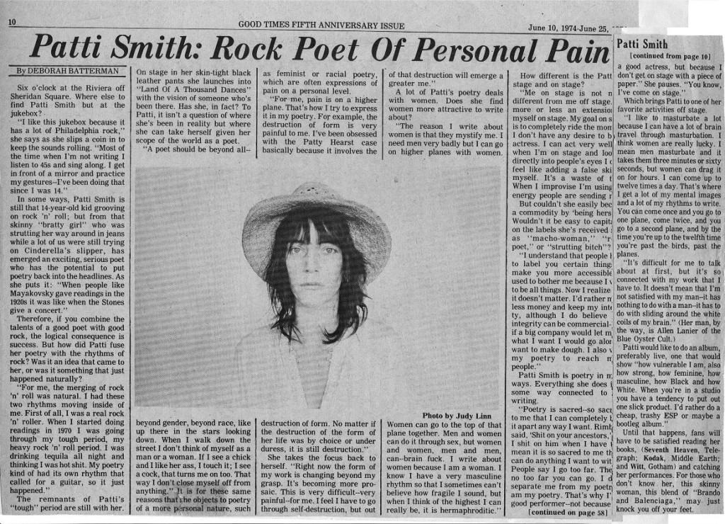 Patti Smith interview 2