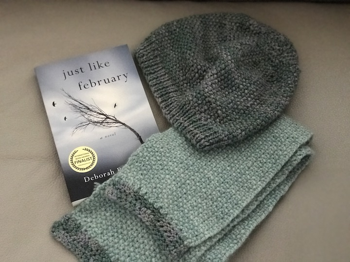 knitting a scarf and hat, writing a novel